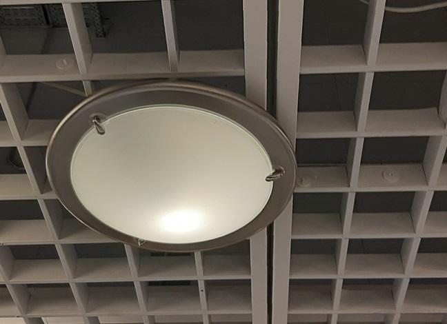Устаноквка светильника